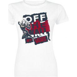 Vans Captain Marvel Basic Crew Tee Koszulka damska biały. Szare bluzki damskie marki Vans, z gumy, na sznurówki. Za 79,90 zł.