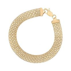 Unikalna Złota Bransoletka - złoto żółte 585. Żółte bransoletki damskie na nogę marki W.KRUK, złote. Za 2490,00 zł.