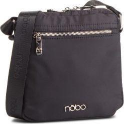 Torebka NOBO - NBAG-MF0110-C020 Czarny. Czarne listonoszki damskie marki Nobo, z jedwabiu. W wyprzedaży za 139,00 zł.