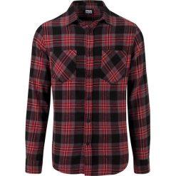 Urban Classics Checked Flanell Shirt 3 Koszula czerwony/szary. Czarne koszule męskie na spinki marki Urban Classics, s, z materiału, z koszulowym kołnierzykiem, z długim rękawem. Za 99,90 zł.