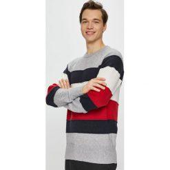 Tommy Hilfiger - Sweter. Szare swetry klasyczne męskie marki TOMMY HILFIGER, l, z bawełny, z okrągłym kołnierzem. Za 499,90 zł.