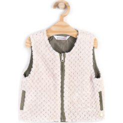 Coccodrillo - Bezrękawnik dziecięcy 92-116 cm. Szare kurtki dziewczęce przeciwdeszczowe marki DOMYOS, z elastanu, z kapturem. W wyprzedaży za 29,90 zł.