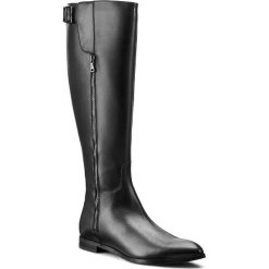 Kozaki GINO ROSSI - Alba DKG486-F36-E100-9900-F 99. Czarne buty zimowe damskie marki Kazar, ze skóry, na wysokim obcasie. W wyprzedaży za 419,00 zł.