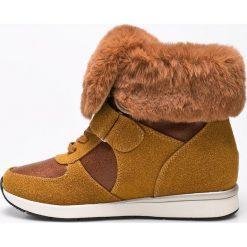 Big Star - Botki. Szare buty zimowe damskie marki BIG STAR, z materiału. W wyprzedaży za 99,90 zł.