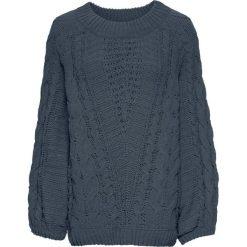 Swetry oversize damskie: Sweter bonprix ciemnoszary