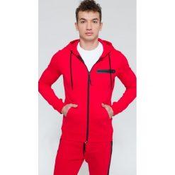 Bluzy męskie: Bluza męska BLM300 – czerwony – 4F