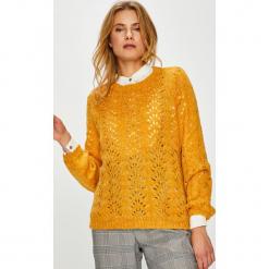 Only - Sweter. Szare swetry klasyczne damskie ONLY, l, z dzianiny, z okrągłym kołnierzem. Za 129,90 zł.