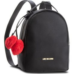 Plecak LOVE MOSCHINO - JC4323PP06KW0000  Nero. Czarne plecaki damskie Love Moschino, ze skóry ekologicznej, eleganckie. Za 719,00 zł.