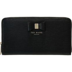 Ted Baker PEONY TEXTURED ZIP AROUND MATINEE Portfel black. Czarne portfele damskie marki Ted Baker. Za 439,00 zł.