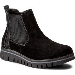 Sztyblety MARCO TOZZI - 2-25802-29 Black Ant. Comb 096. Czarne buty zimowe damskie marki Marco Tozzi, z materiału. W wyprzedaży za 229,00 zł.