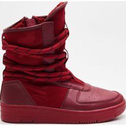 Buty zimowe damskie: Śniegowce - Czerwony