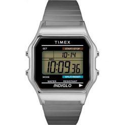Timex - Zegarek T78587. Czarne zegarki męskie marki Fossil, szklane. Za 279,90 zł.