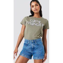 NA-KD Szorty jeansowe z wysokim stanem - Blue. Niebieskie bermudy damskie NA-KD, z denimu, z podwyższonym stanem. Za 161,95 zł.