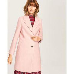 Płaszcz z domieszką wełny - Różowy. Czerwone płaszcze damskie wełniane marki Reserved. Za 249,99 zł.
