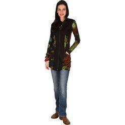 Bluzy rozpinane damskie: Bluza w kolorze czarnym ze wzorem