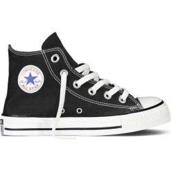 Wysokie trampki Chuck Taylor All Star Hi Canvas. Czarne buty sportowe dziewczęce marki Converse, z bawełny, na sznurówki. Za 230,96 zł.