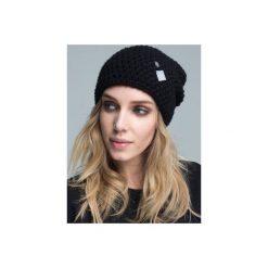 Czapka hauer KRAFF BLACK hand made. Czarne czapki zimowe damskie marki Hauer, z nadrukiem, z polaru. Za 109,00 zł.
