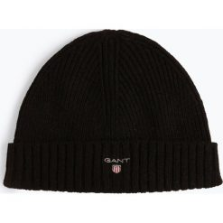 Gant - Czapka męska, czarny. Czarne czapki męskie GANT, z bawełny. Za 179,95 zł.