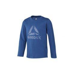 T-shirty z długim rękawem Dziecko Reebok Sport  Koszulka Boys Elements Longsleeve. Niebieskie t-shirty chłopięce z długim rękawem Reebok Sport. Za 79,95 zł.