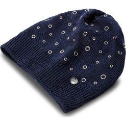 Czapka LIU JO - Cappello Applicazion N67248 M0300 Dress Blue 94024. Niebieskie czapki zimowe damskie marki Liu Jo, z bawełny. W wyprzedaży za 179,00 zł.