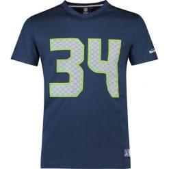 T-shirty męskie z nadrukiem: NFL Seattle Seahawks 34 Rawls T-Shirt niebieski
