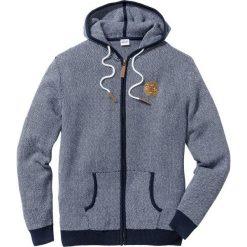 Sweter rozpinany Regular Fit bonprix ciemnoniebiesko-biały. Czarne kardigany męskie marki Reserved, m, z kapturem. Za 109,99 zł.