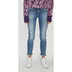 Lee - Jeansy Scarlett. Niebieskie jeansy damskie rurki Lee, z bawełny. Za 329,90 zł.