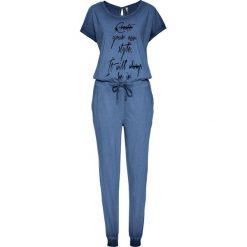 """Kombinezony damskie: Kombinezon shirtowy bonprix niebieski """"washed"""""""