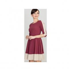 Sukienka K057 Bordo. Czerwone sukienki na komunię Lenitif, s, rozkloszowane. Za 139,00 zł.