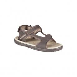 Sandały S 500 męskie. Brązowe sandały męskie OLAIAN, z gumy. W wyprzedaży za 49,99 zł.