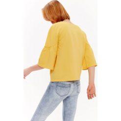 Bluzy rozpinane damskie: BLUZA DAMSKA Z ROZSZERZONYM RĘKAWEM