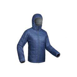 Kurtka trekkingowa Trek 100 męska. Niebieskie kurtki męskie marki QUECHUA, m, z elastanu. Za 149,99 zł.