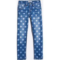 Name it - Jeansy dziecięce 110-152 cm. Czerwone jeansy dziewczęce marki Name it, l, z nadrukiem, z bawełny, z okrągłym kołnierzem. W wyprzedaży za 69,90 zł.