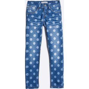 Name it - Jeansy dziecięce 110-152 cm. Niebieskie jeansy dziewczęce marki Name it, z haftami, z bawełny. W wyprzedaży za 69,90 zł.