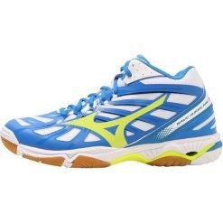 Buty do siatkówki męskie: Mizuno WAVE HURRICANE 2 MID Obuwie do siatkówki white/safety yellow/directoire blue