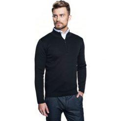 Sweter lennox troyer czarny. Szare swetry klasyczne męskie marki Recman, m, z kołnierzem typu troyer. Za 249,00 zł.
