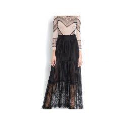 Długie spódnice: Koronkowa spódnica maxi