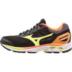 Buty sportowe damskie: Mizuno WAVE RIDER 21 OSAKA Obuwie do biegania treningowe black / safety yellow / white