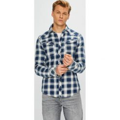 G-Star Raw - Koszula. Szare koszule męskie na spinki G-Star RAW, l, w kratkę, z bawełny, z długim rękawem. W wyprzedaży za 479,90 zł.