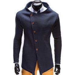 Bluzy męskie: BLUZA MĘSKA ROZPINANA BEZ KAPTURA B310 – GRANATOWA