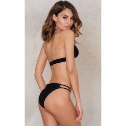 Stroje kąpielowe damskie: Rebecca Stella Dół bikini Multi Strap - Black