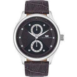 """Zegarki męskie: Zegarek kwarcowy """"Calador"""" w kolorze brązowo-srebrno-czarnym"""