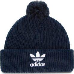 Czapka adidas - Pom Pom Beanie D98944 Conavy. Niebieskie czapki zimowe damskie Adidas, z materiału. Za 99,95 zł.