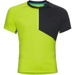 Odlo Koszulka rowerowa Stand-up collar s/s 1/2 zip Morzine zielono-czarna r. L (411512). Koszulki sportowe męskie Odlo, l. Za 183,43 zł.