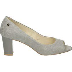 Buty ślubne damskie: Czółenka - G028PN GRIGIO