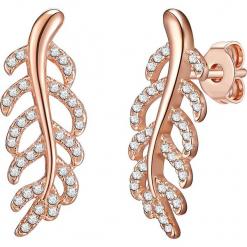 Pozłacane kolczyki-wkrętki z cyrkoniami. Żółte kolczyki damskie Stylowa biżuteria, z cyrkonią, pozłacane. W wyprzedaży za 99,95 zł.