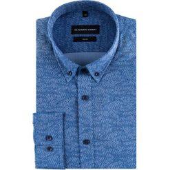 Koszula SIMONE KDGS000417. Niebieskie koszule męskie na spinki Giacomo Conti, m, z bawełny, button down. Za 169,00 zł.