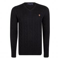 Giorgio Di Mare Sweter Męski Xl Czarny. Czarne swetry klasyczne męskie Giorgio di Mare, m, z bawełny. W wyprzedaży za 199,00 zł.