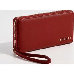 Portfele damskie: Elegancki portfel z przegrodami - Czerwony