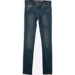 Pepe Jeans - Jeansy dziecięce Pau 122-180 cm. Niebieskie jeansy dziewczęce Pepe Jeans, z bawełny. W wyprzedaży za 159,90 zł.